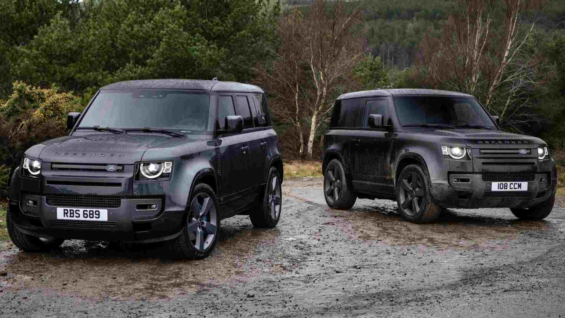 The 5.0-litre V8 engine will be available with both 90 and 110 body styles of the Land Rover Defender. Image: Land Rover