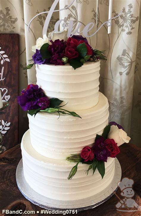 "Design W 0751   Butter Cream Wedding Cake   10"" 8"" 6"