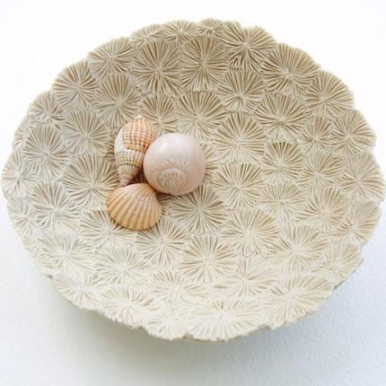 Bleached Coral Porcelain Dish