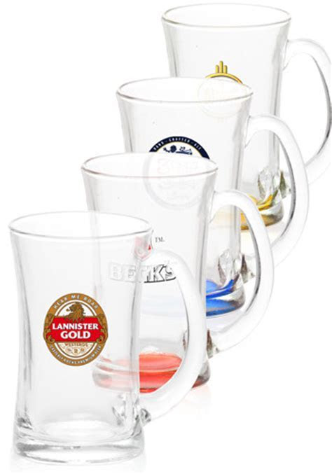 Personalized 11 oz. Flare Beer Mugs   G55C   DiscountMugs