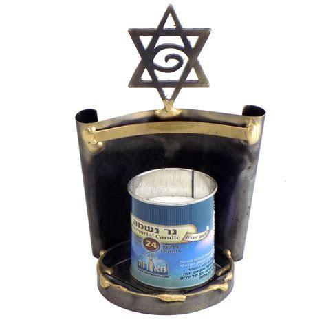 Jewish Gifts   Yahrzeit Memorial Candle Holder