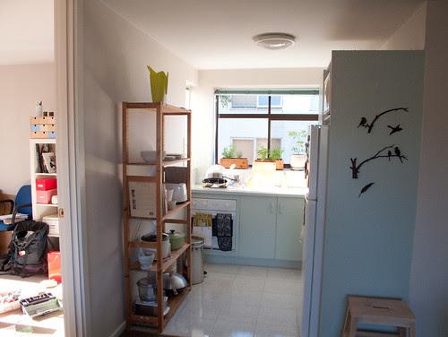 my new flat - sun filled kitchen