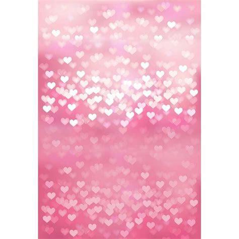 Custom vinyl cloth pink love heart shiny bokeh photography
