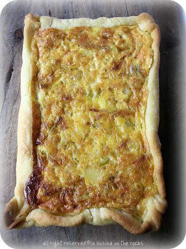 frittata di porri e parmigiano in crosta di pasta brisèe