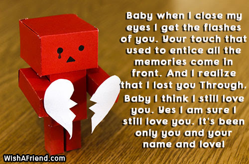 I Love You Messages For Ex Girlfriend