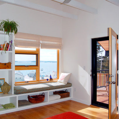 Modern Bedroom window seat Design Ideas, Pictures, Remodel and Decor
