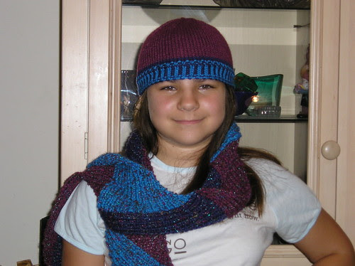 Funky scarf and hat