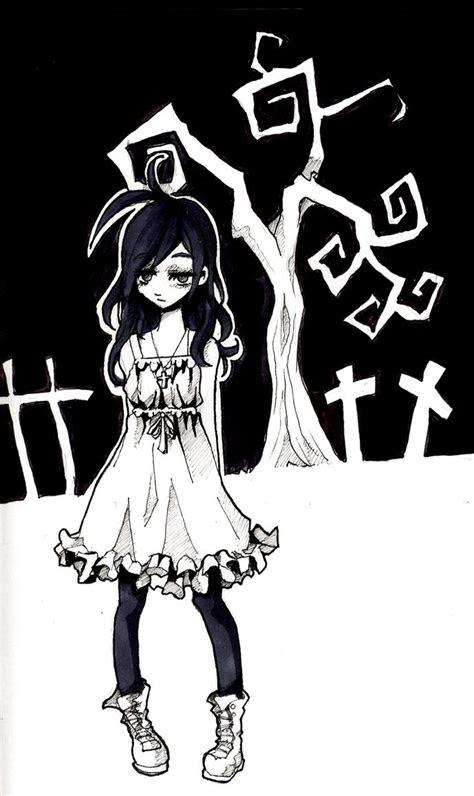 cute  goth girl  jump button  deviantart
