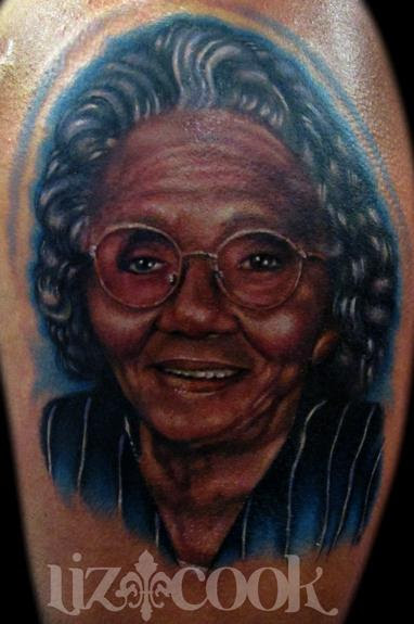 Rebel Muse Tattoo Tattoos Dark Skin Portrait Of Scoops Grandma