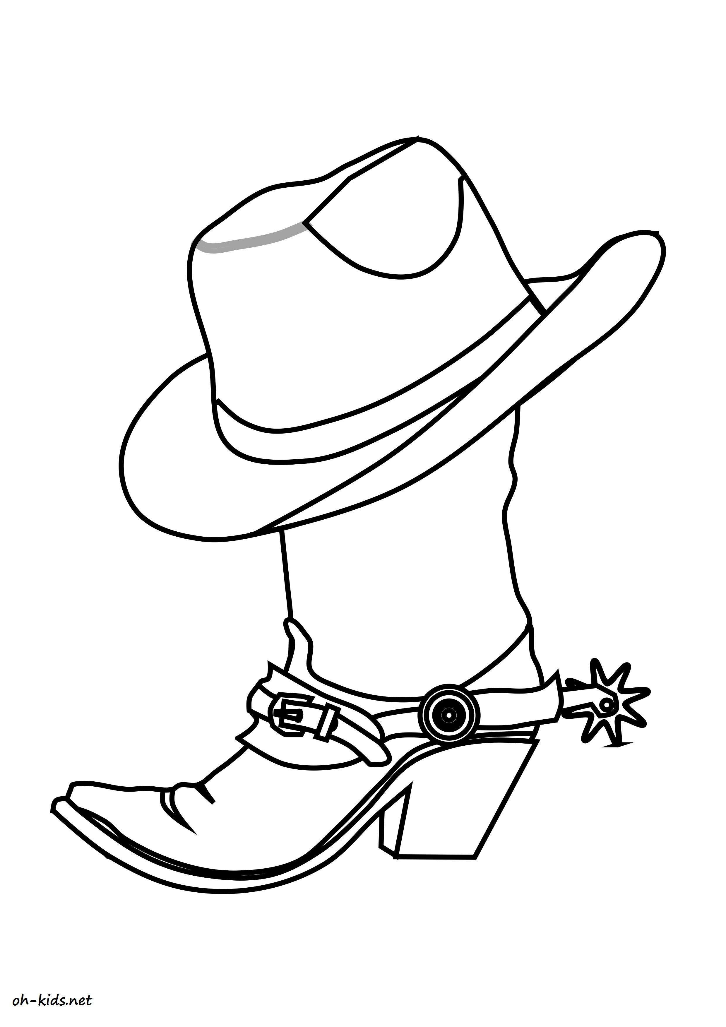 Dessin 1512 Coloriage Cowboy à Imprimer Oh Kidsnet