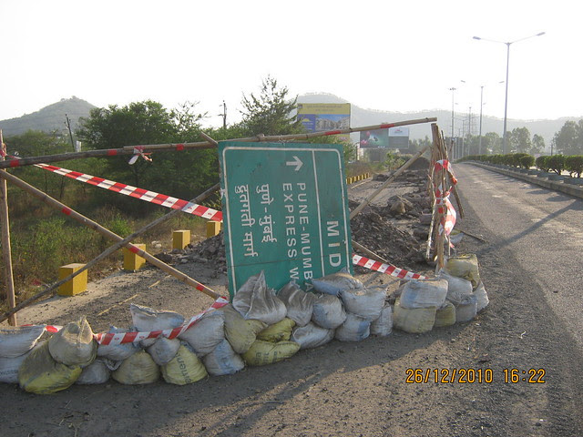 Have a look at the condition of this road!  - Mahavir Natura, almost Ready for Possession 1 BHK & 2 BHK Flats at Talegaon MIDC Junction on Old Mumbai Pune Highway (NH4) at Vadgaon Maval, Pune 412 106