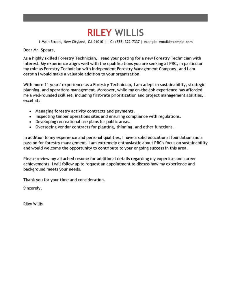 Best Agriculture Environment Cover Letter Samples
