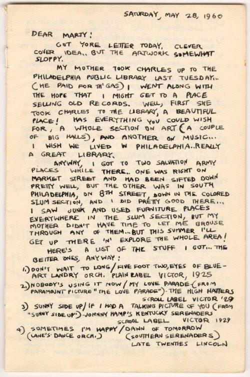 Lettera di Crumb a Marty Pahals