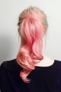 I love this. Would be fun to do for a night out, I don't think I'm brave enough to actually color my hair pink.