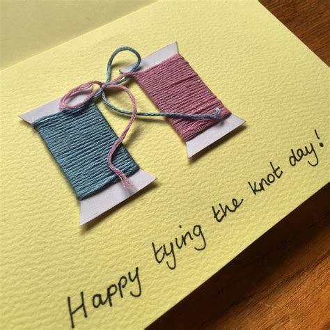 Handmade Tying the Knot Wedding Card