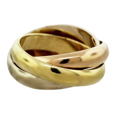 Cartier Trinity de Cartier Tri Color 18k Gold Ring Boca Raton