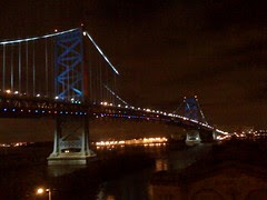 Ben Franklin Bridge, Philadelphia at night