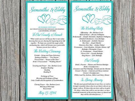 DIY Wedding Program Template   Printable Wedding Order of