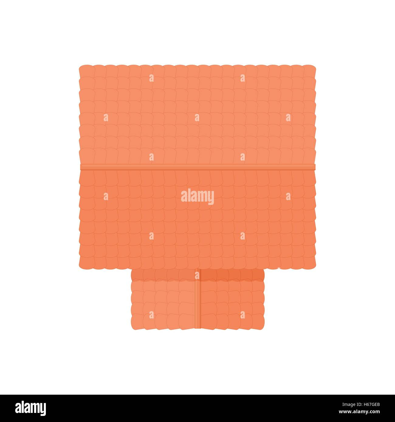 House  building top  view  icon cartoon style Stock Vector