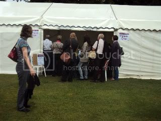 marquee,people,grass,white,book festival
