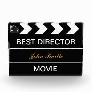 Movie Slate Acrylic Award