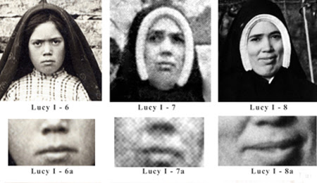 Three difference images of Sister Lucy I