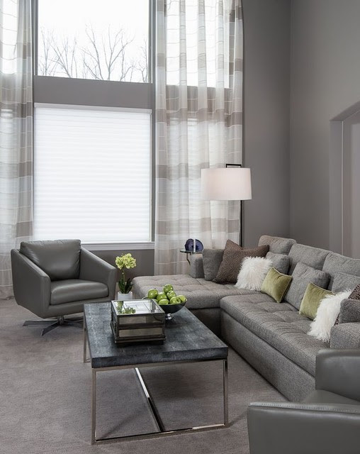 Living Rooms - Contemporary - Living Room - detroit - by ...