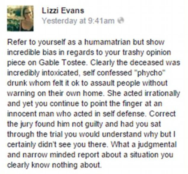 Ms Evans posted this rant aboutNew Zealand journalist Rachel Smalley