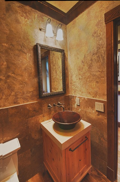 Rustic Contemporary Remodel - Rustic - Powder Room - other ...