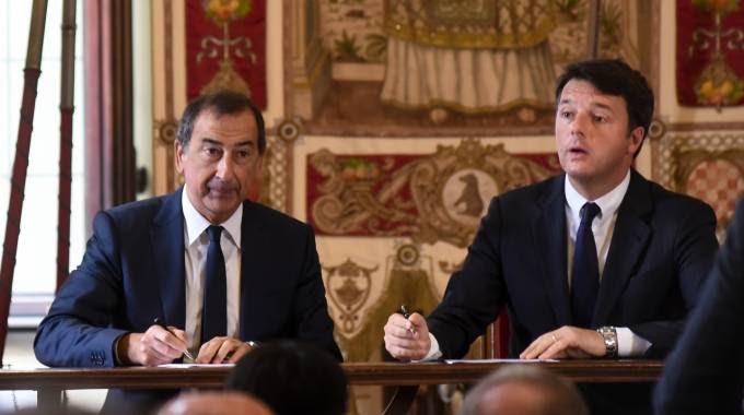 """Renzi e Sala firmano il """"Pacco per Milano"""" (con nuovo buco Expo)"""