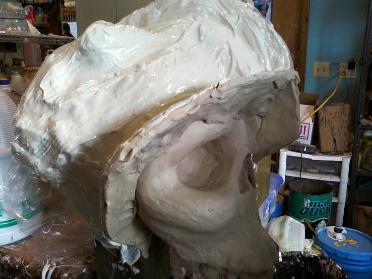 """""""Reptile Brain"""" plaster and rubber_Feb2"""