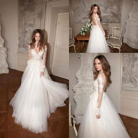 Online Buy Wholesale backless long sleeve lace wedding