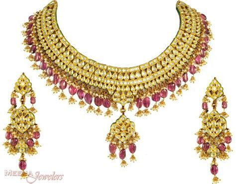 Bridal Jewellery Set Pure Gold Necklace Designs 2014 2015