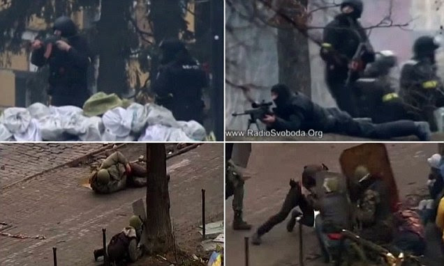 Harrowing footage emerges of UNARMED protesters being cut down by sniper fire on a day of violence in Kiev that has brought the death toll to at least 50