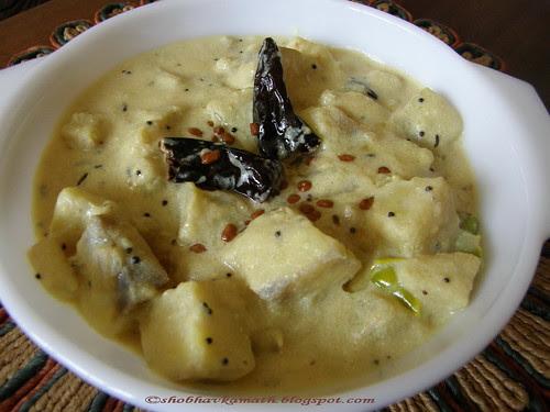 Kalan (Raw Banana curry )