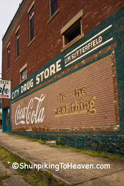Coca Cola Mural at City Drug Store, Searcy County, Arkansas