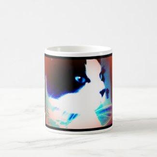 snowshoe cartoon like kitty classic white coffee mug