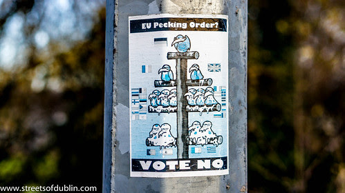 EU Pecking Order Photographed In Newbridge (County Kildare) On Christmas Day 2012 by infomatique