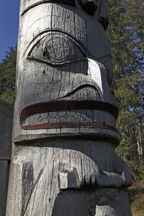 beaver figure on totem, Kasaan, Alaska