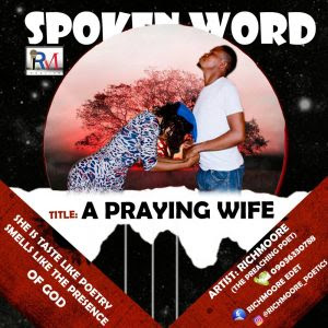 (A praying wife) piece by Richmoore Edet