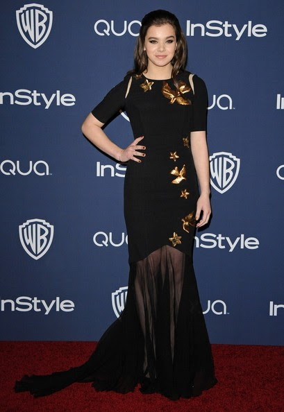 Hailee Steinfeld - Arrivals at the InStyle/Warner Bros. Golden Globes Party