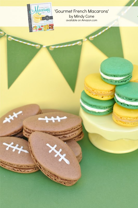 Football Macaron Recipe - via BirdsParty.com
