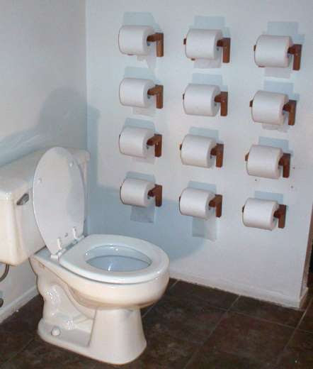 Giant Guerrilla Toilet Paper Rolls