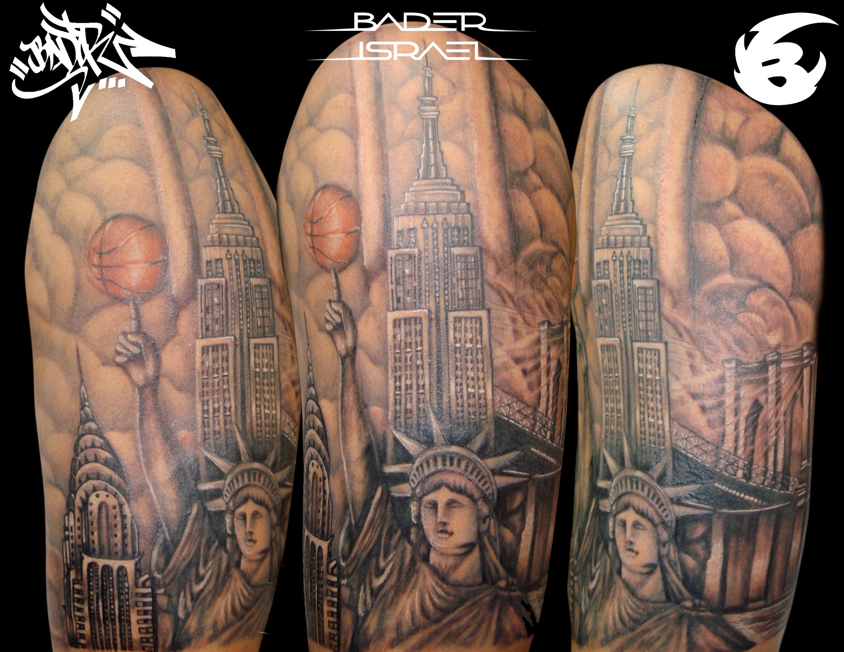 New York Tattoo Style By Badder Israel Badder