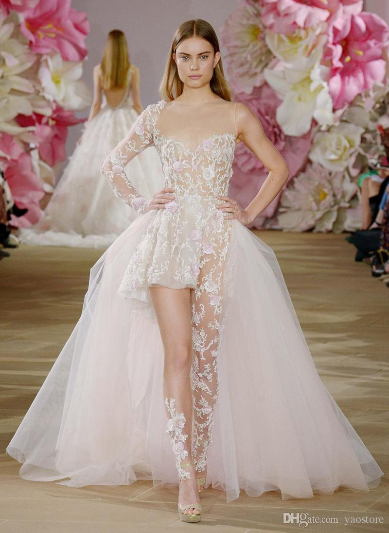 Size asymmetrical wedding dress with sleeves in women accessories
