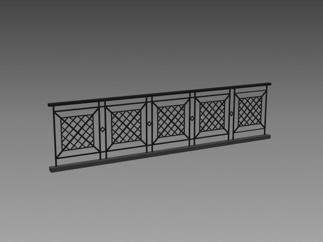 House Roof Railing Design 3d Model 3dsmax3dsautocad Files Free
