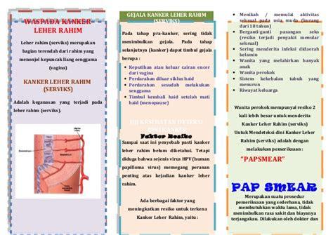 leaflet kanker serviks
