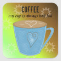 Coffee Cup with Quote Stickers