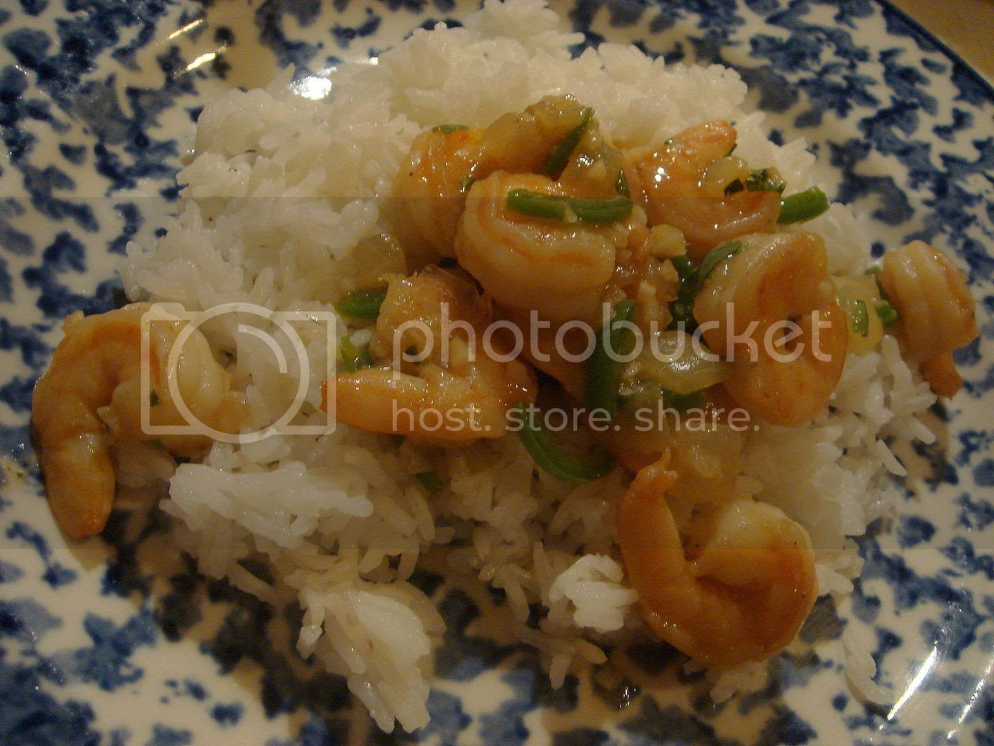 caramel shrimp with jasmine rice