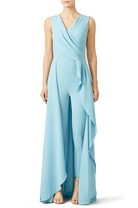 rent light blue petal jumpsuit  escada